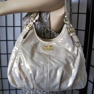 Rare COACH Madison #19700 Gold Hobo Handbag